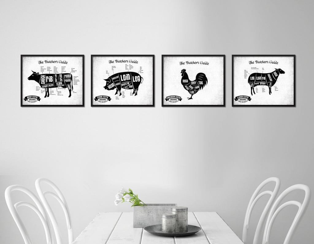 Duck Meat Cuts Butcher Chart Kitchen White Printable Sign Wall Art ...