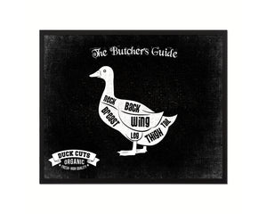 Duck Meat Cuts Butcher Chart Kitchen Black Printable Sign Wall Art Home Decor Digital Download 5211