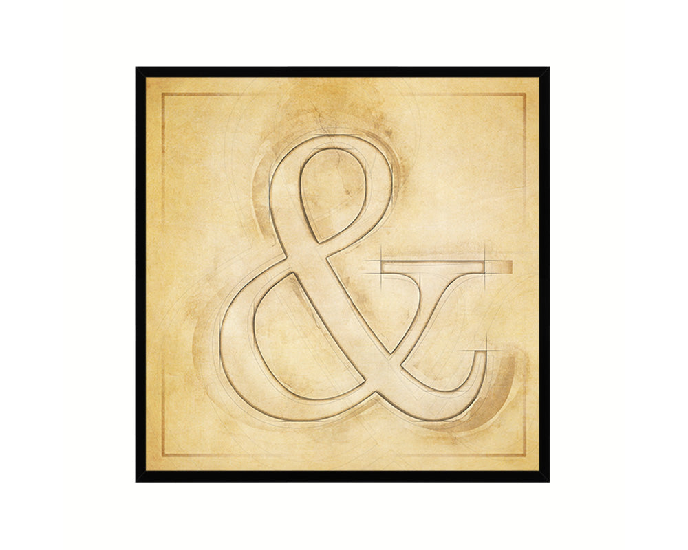 Ampersand & Punctuation Vintage Symbol Art Print Framed Classroom Wall Decor English Teacher Gifts