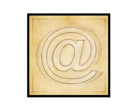 At Sign @ Punctuation Vintage Symbol Art Prints Black Framed Home Classroom Wall Decor English Teacher Gifts