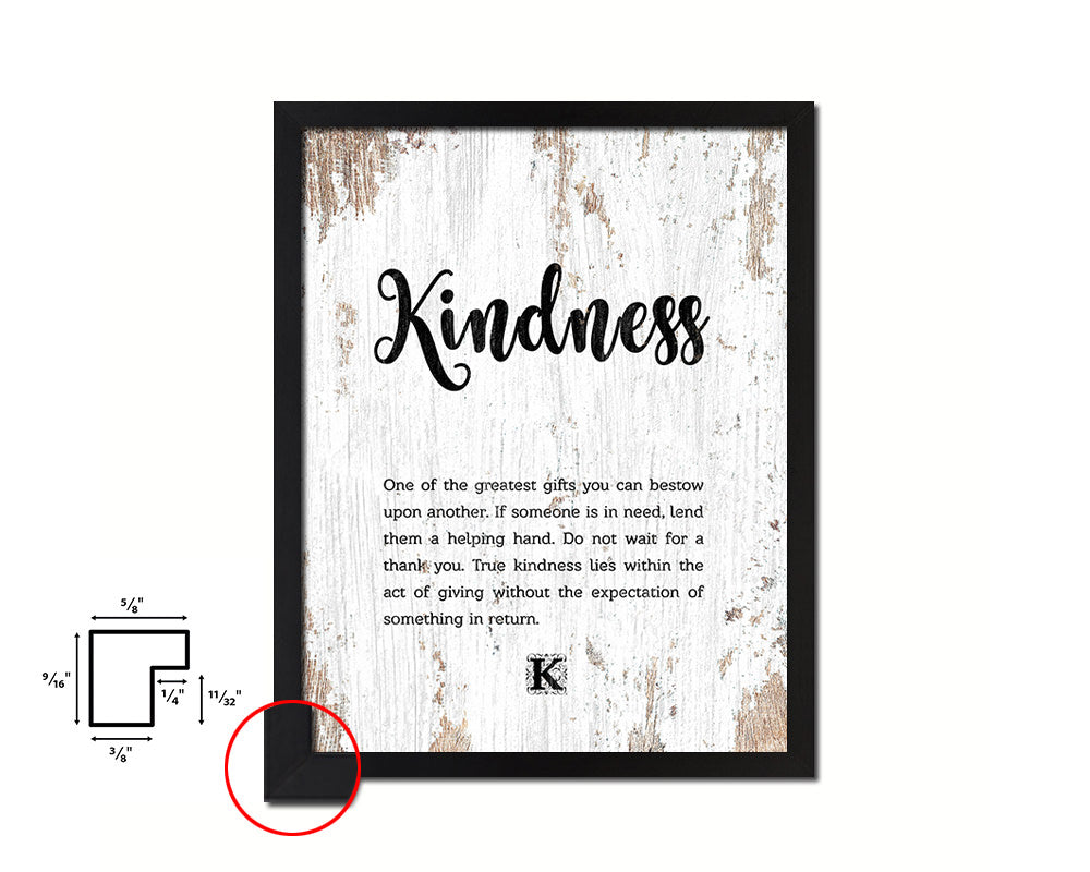 Kindness Quote Framed Print Home Decor Wall Art Gifts