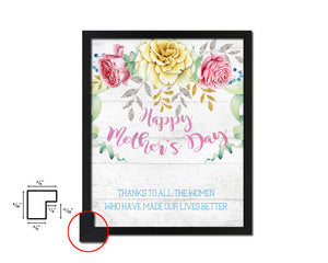 Happy mother's day Mother's Day Framed Print Home Decor Wall Art Gifts