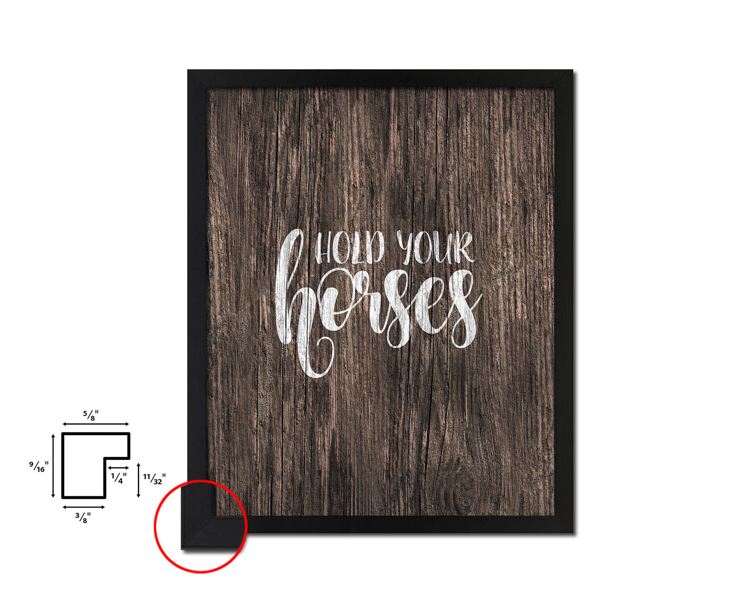 Hold your horses Quote Framed Artwork Print Home Decor Wall Art Gifts