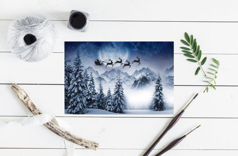 Christmas Santa Postcard Printable Card Wall Art Home Decor Digital Download 9005