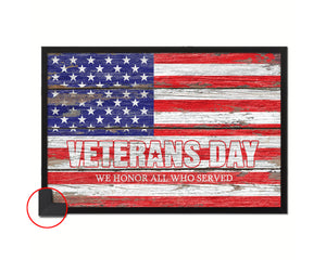Veterans Day Thank you for your service Military Vintage Flag Framed Print Wall Art Decor Gifts