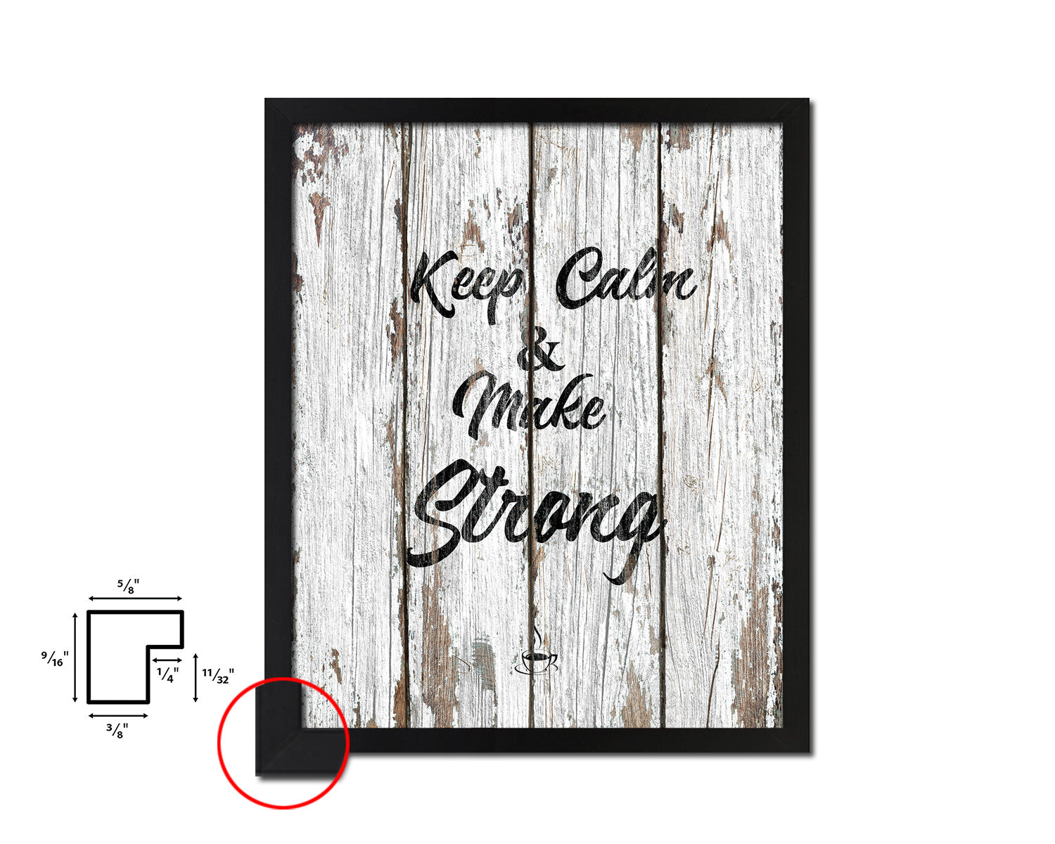 Keep calm & make strong Quotes Framed Print Home Decor Wall Art Gifts