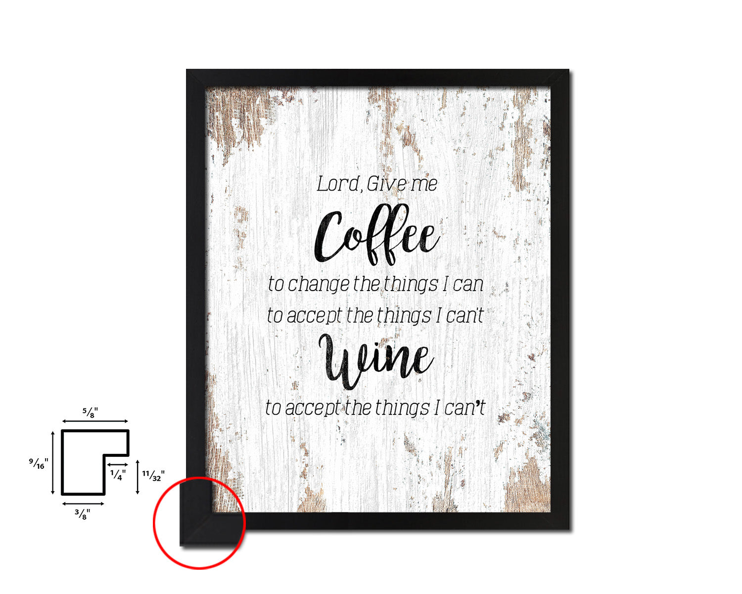Lord give me coffee to change the things I can Framed Artwork Print Wall Decor Art Gifts