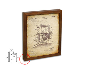 Amplifying System Sound Vintage Patent Artwork Walnut Frame Gifts