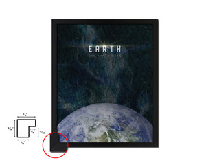 Earth Planet Prints Length of Year Watercolor Solar System Framed Print Home Decor Wall Art Gifts
