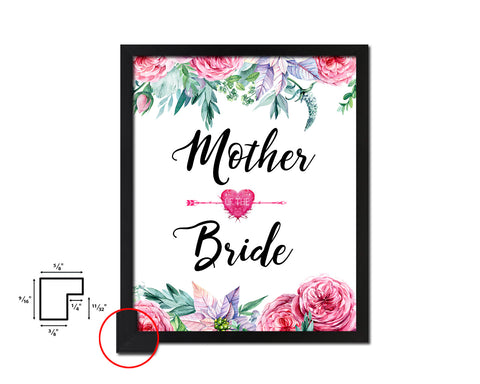 Mother of the bride Mother's Day Framed Print Home Decor Wall Art Gifts