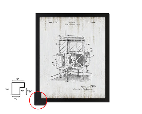 Amplifying System Sound Vintage Patent Artwork Black Frame Print Gifts