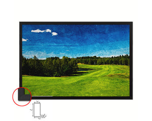 Sweden Golf Course Artwork Painting Print Art Wood Framed Wall Decor Gifts