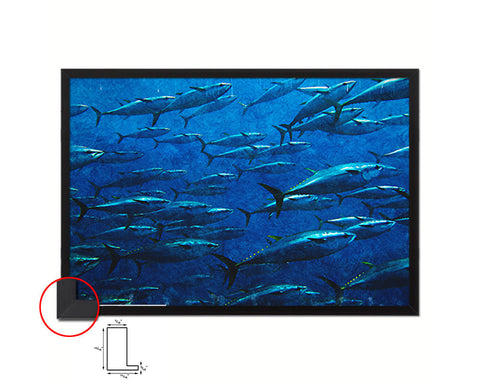 Group of Giant Tuna Artwork Painting Print Art Frame Home Wall Decor Gifts