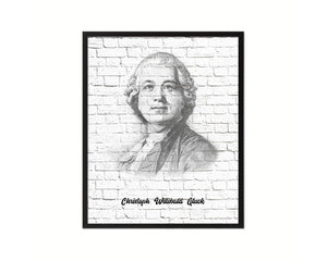 Christoph Willibald Gluck Classical Music Framed Print Orchestra Teacher Gifts Home Wall Decor