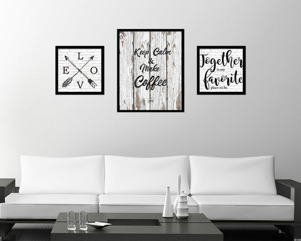 Keep calm & make coffee Quote Framed Artwork Print Wall Decor Art Gifts
