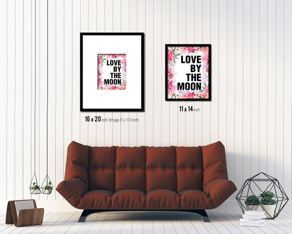 Love by the moon Quote Framed Print Home Decor Wall Art Gifts