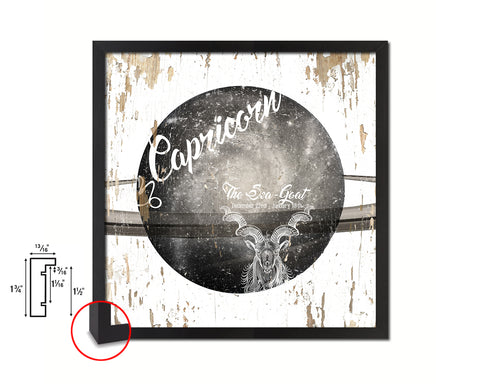 Capricorn Astrology Prediction Yearly Horoscope Wood Framed Print Wall Art Decor Gifts