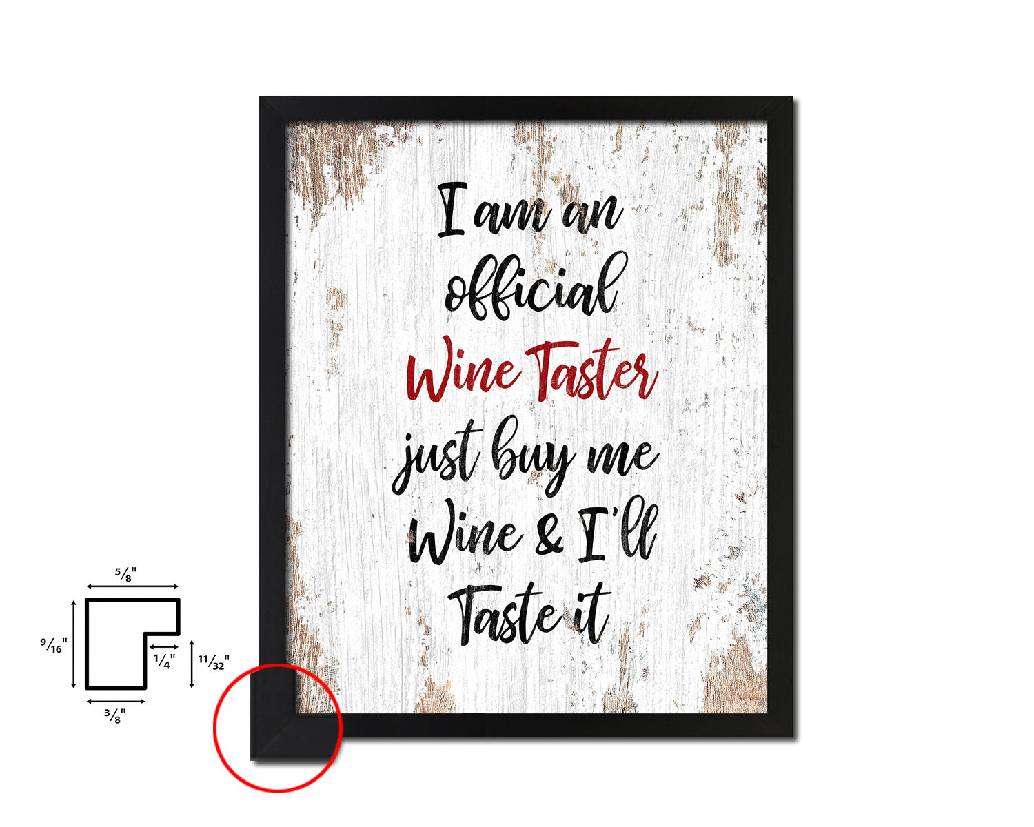 I am an official wine taster Framed Artwork Print Wall Decor Art Gifts