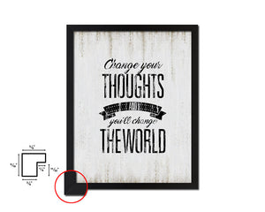 Change your thoughts Vintage Quote Black Framed Artwork Print Wall Decor Art Gifts