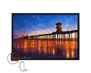Huntington Beach, CA Artwork Painting Print Art Frame Home Wall Decor Gifts