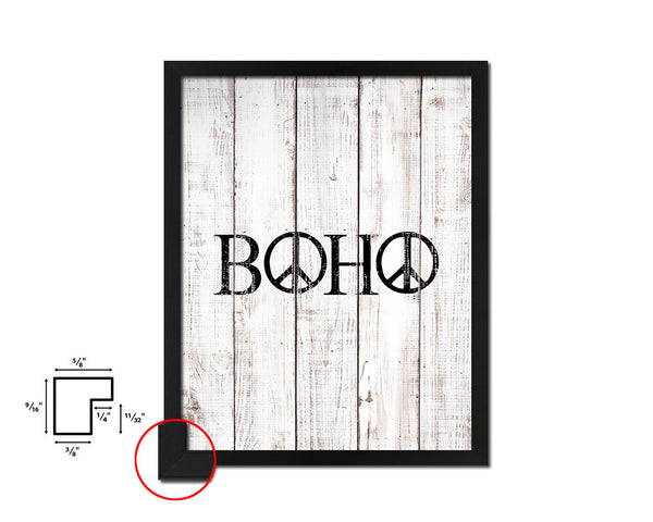 BOHO Quote White Wash Framed Artwork Print Wall Decor Art Gifts