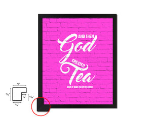 And then god created and it was so very good Quote Framed Print Home Decor Wall Art Gifts