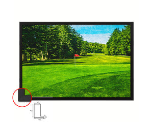Vancouver Golf Course, Canada Artwork Painting Print Art Wood Framed Wall Decor Gifts