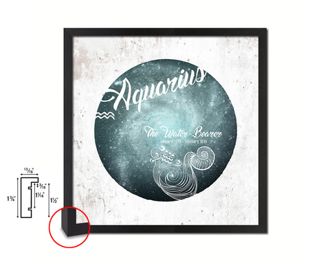 Aquarius Astrology Prediction Yearly Horoscope Wood Framed Print Wall Art Decor Gifts