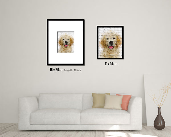 Jindo Dog Puppy Portrait Framed Print Pet Home Decor Custom Watercolor Wall Art Gifts