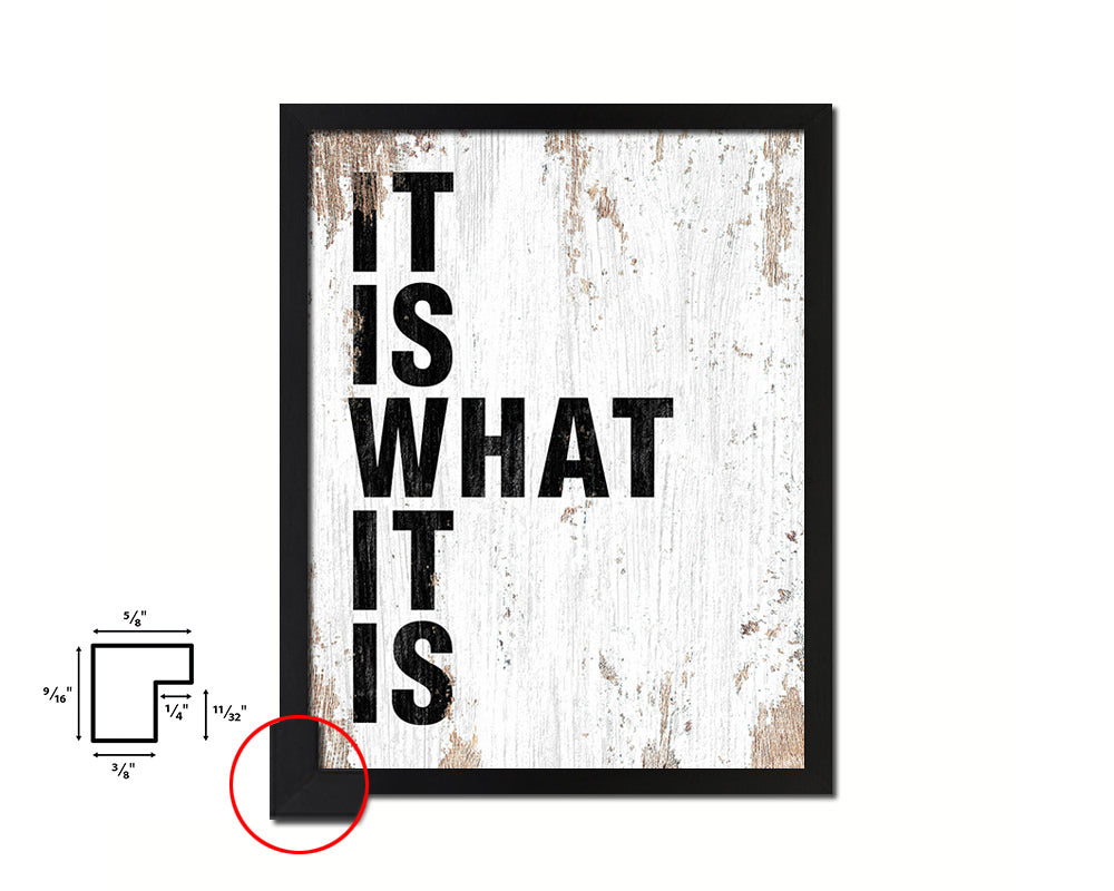 It is what it is Quote Framed Print Home Decor Wall Art Gifts