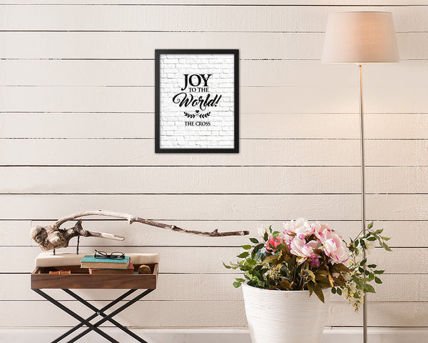 Joy to the world the coopers Quote Framed Print Home Decor Wall Art Gifts