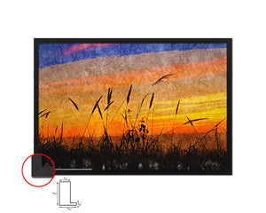 Colorful Peace Sunset Artwork Painting Print Art Frame Home Wall Decor Gifts