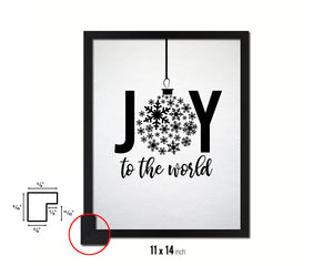 Joy to the world Holiday Season Gifts Wood Framed Print Home Decor Wall Art