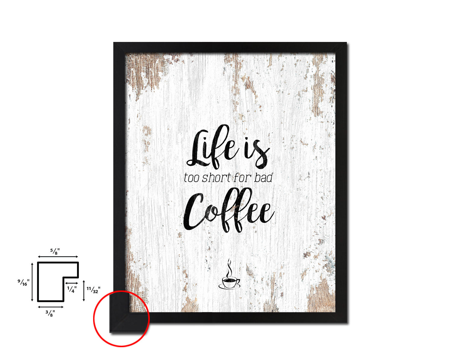 Life is what happens between coffee&wine Quote Framed Artwork Print Wall Decor Art Gifts