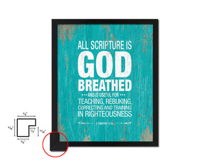 All scripture is god breathed Quote Framed Print Home Decor Wall Art Gifts