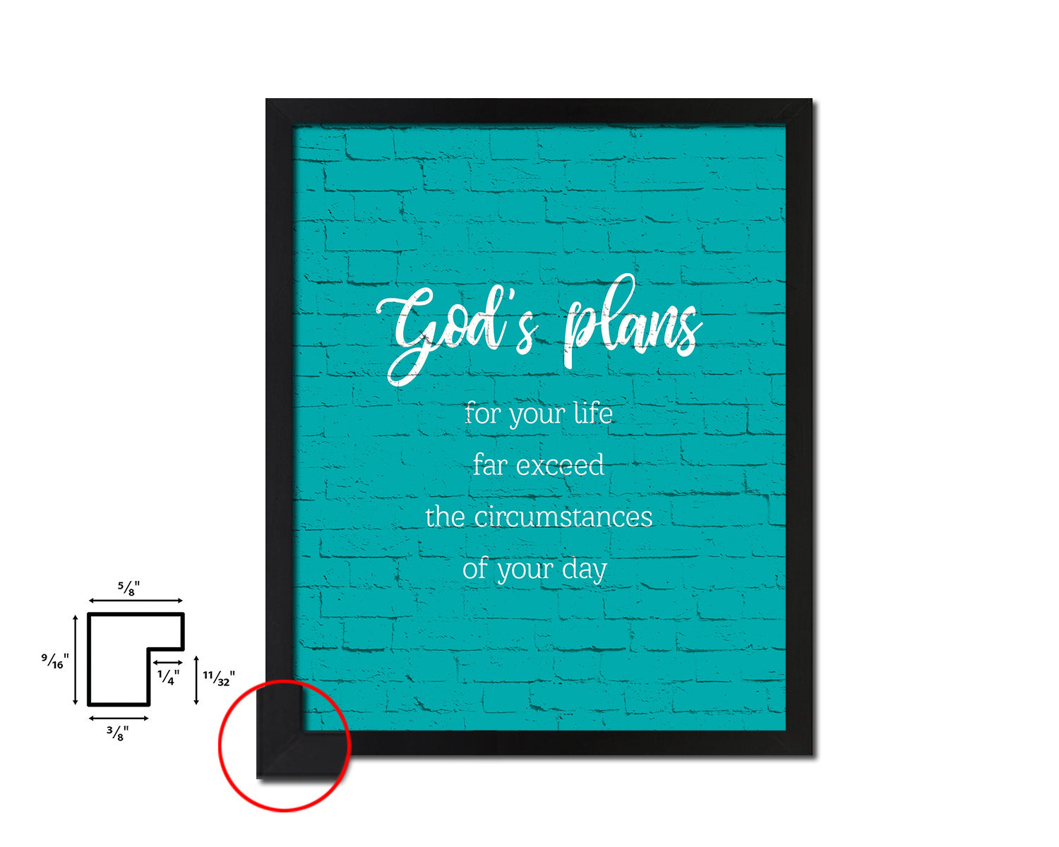 God's plans for your life far exceed the circumstances Quote Framed Print Home Decor Wall Art Gifts