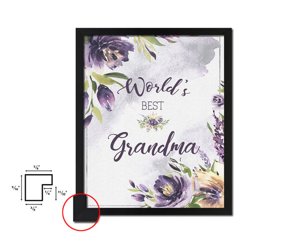 World's best grandma Mother's Day Framed Print Home Decor Wall Art Gifts
