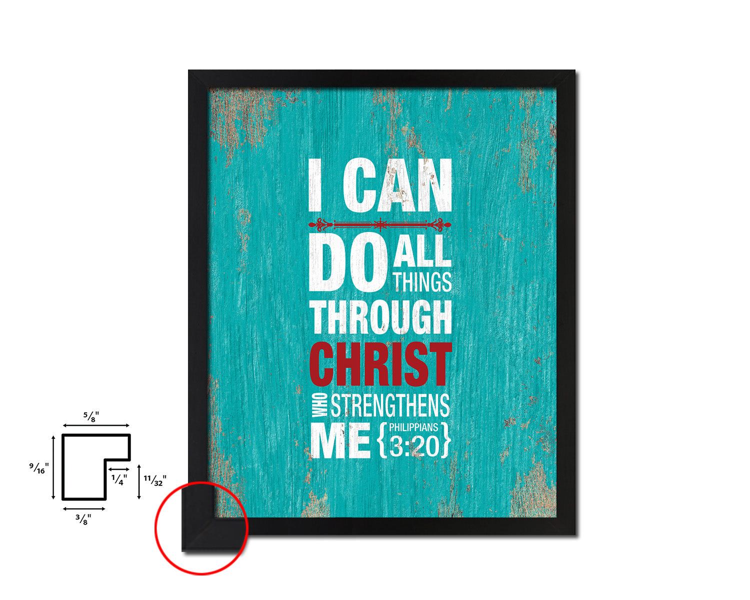 I can do all things through Christ, Philippians 3:20 Quote Framed Print Home Decor Wall Art Gifts