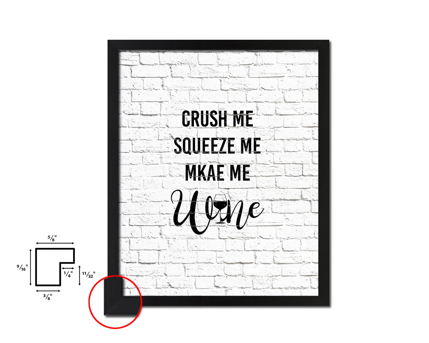 Crush me squeeze me make me Framed Artwork Print Wall Decor Art Gifts