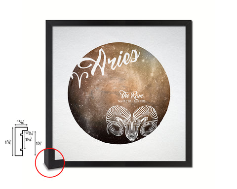 Aries Astrology Prediction Yearly Horoscope Wood Framed Print Wall Art Decor Gifts