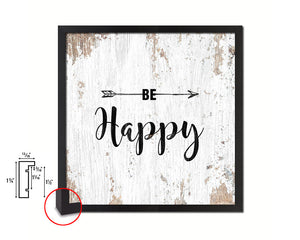 Be Happy Bible Quote Framed Print Home Decor Wall Art Gifts