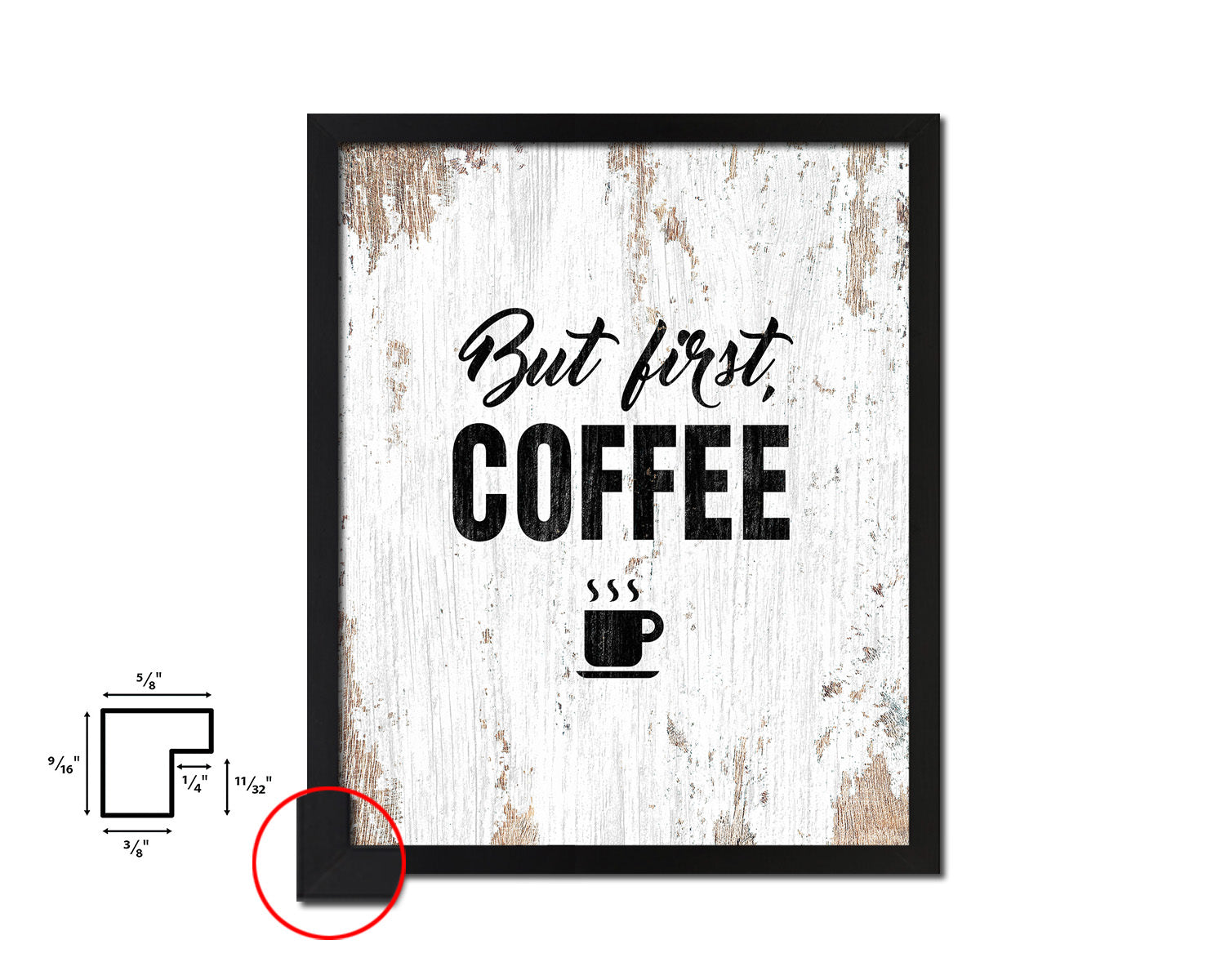 But first, coffee Quote Framed Artwork Print Wall Decor Art Gifts
