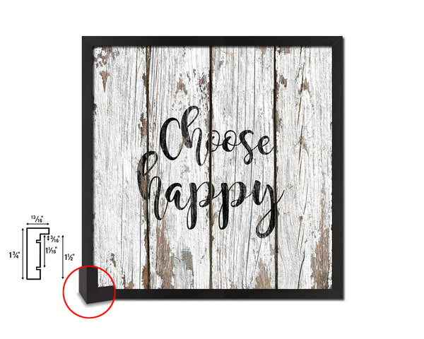 Choose happy Quote Framed Print Home Decor Wall Art Gifts