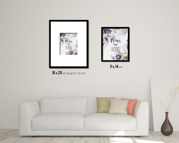 Mom since 2010 Mother's Day Framed Print Home Decor Wall Art Gifts