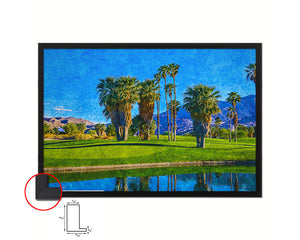 Palm Springs Golf Course, California Artwork Painting Print Art Wood Framed Wall Decor Gifts