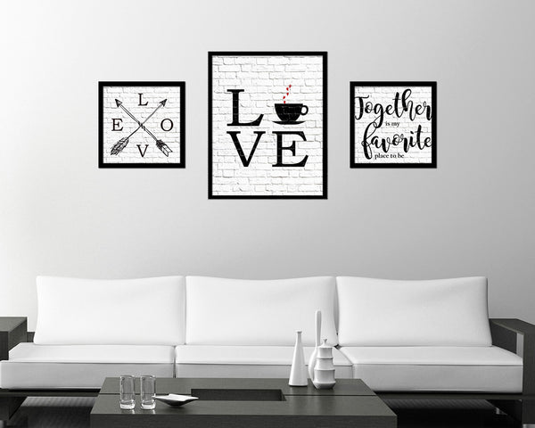Love coffee Quote Framed Artwork Print Wall Decor Art Gifts