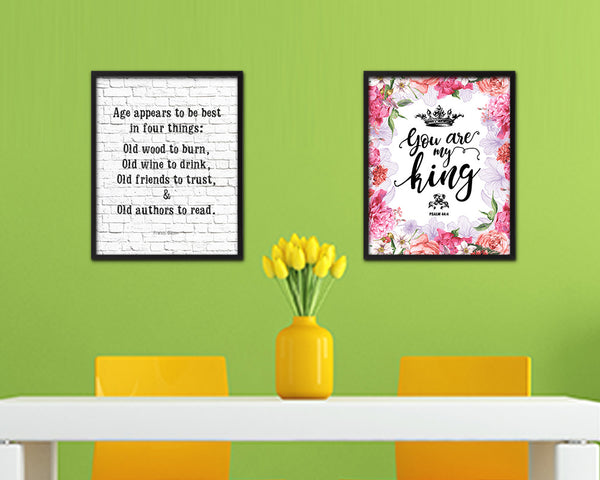 Age appears best in four things Quote Framed Artwork Print Wall Decor Art Gifts