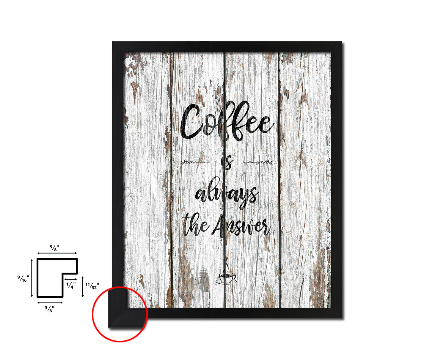 Coffee the answer is always coffee Quote Framed Artwork Print Wall Decor Art Gifts
