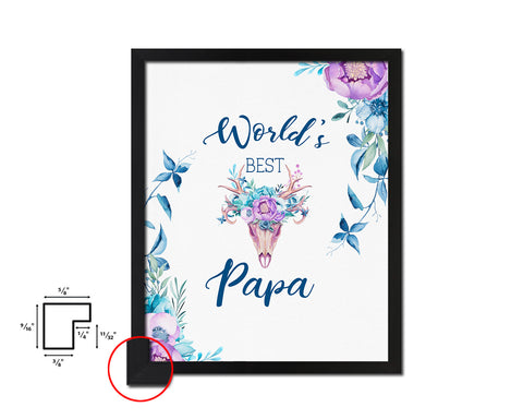 World's best papa Father's Day Framed Print Home Decor Wall Art Gifts