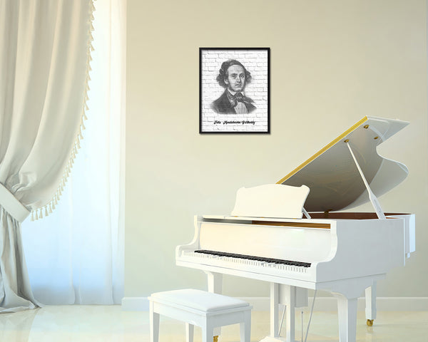 Felix Mendelssohn Bartholdy Classical Music Framed Print Orchestra Teacher Gifts Home Wall Decor